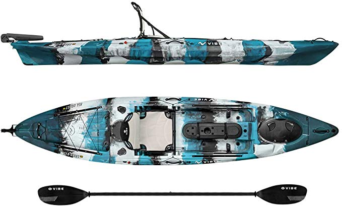 Vibe Kayaks Sea Ghost 130 Sit On Top Fishing Kayak