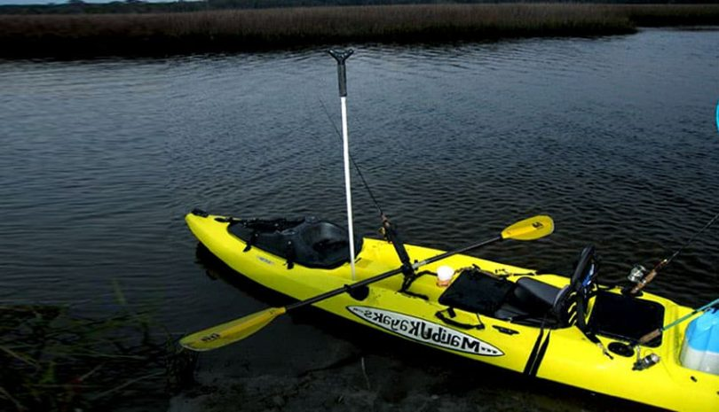 Anchor a kayak