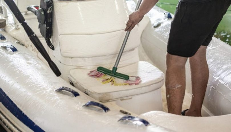 how to clean inflatable boat