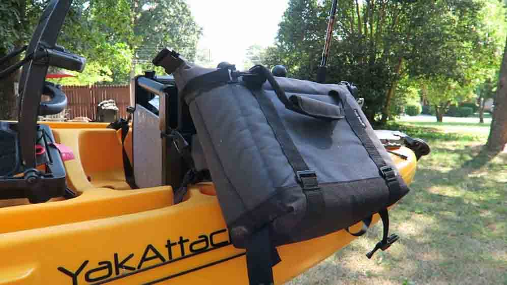 how to carry a cooler on a kayak; On the side of your kayak