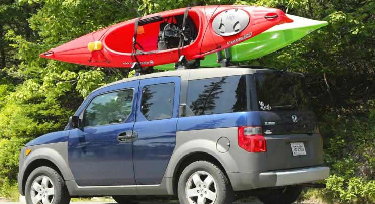Transport a Kayak with Foam Blocks